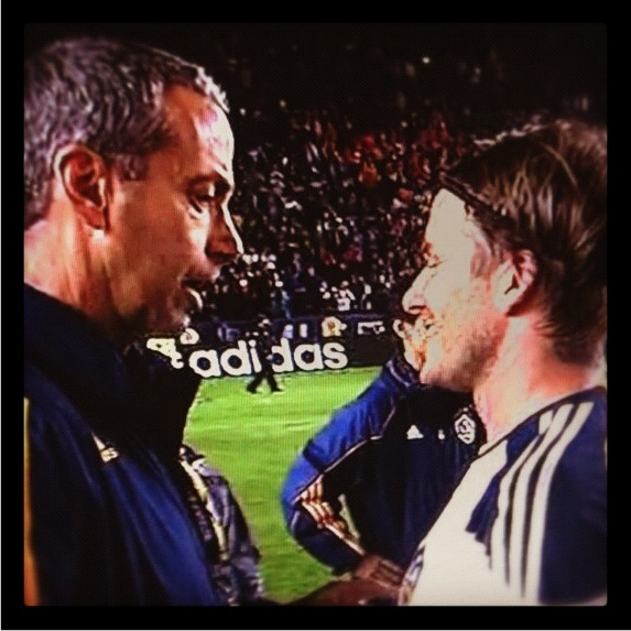 Dr. George with David Beckham